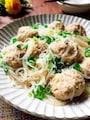 えのき茸でカサ増し・肉団子と春雨のスープ煮