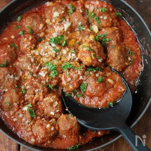 ミートボールのトマト煮込み。