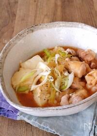 『レンジで簡単!さっぱり鶏肉豆腐』