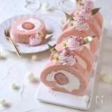 しっとりふわふわ!苺のロールケーキ【余った卵白で・卵白消費】