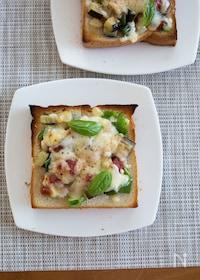 『夏野菜のバーベキューピザトースト』