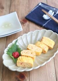 『簡単アレンジ卵焼き☆紅生姜と天かすの卵焼き』