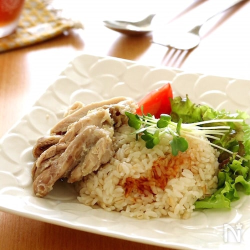 炊飯器で簡単*シンガポールチキンライス