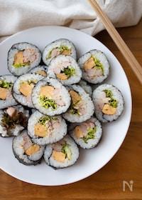 『『ツナマヨとカニカマのサラダ巻き』#恵方巻#お祝い』