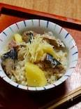 サンマとジャガイモの炊き込みご飯