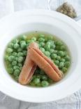 お豆が主役!ほくほく甘い!フレッシグリーンピースのコンソメ煮
