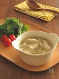 具沢山◎ささみとえのきのとろみ生姜スープ