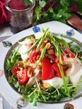 レンジで主菜になる冷奴*蒸し鶏とトマトとザーサイの中華風冷奴