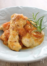 『鶏胸肉のチーズトマト焼き』