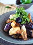 【ご飯がススム】ちくわでボリュームアップなすの油味噌炒め