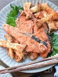 このタレ最強♡タレの旨さで食べる♡塩鮭の旨辛ダレ漬け♡