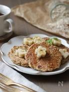 バナナのオートミールパンケーキ