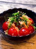 【5分で完成!!ヘルシーレシピ!!】ミニトマトと豆苗のナムル
