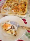 鮭と里芋の味噌グラタン