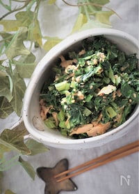 『大根葉のツナ缶炒め』