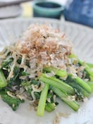 小松菜とじゃこの簡単炒め