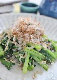 『小松菜とじゃこの簡単炒め』