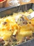 レンジ&トースターで*肉団子と長ネギのトロっとチーズ焼き