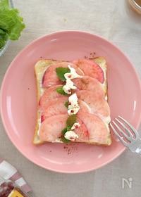 『桃とクリームチーズのしあわせトースト』