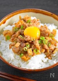 『【ご飯やお弁当に】鶏そぼろとごぼうの甘辛炒め』