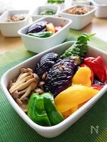 【作り置き】さっぱりピリ辛*夏野菜の中華風焼きマリネ*