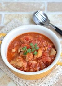 『鶏もも肉のトマト煮込み【冷凍・作り置き】』