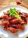 おうち焼肉♡簡単、本格的、やわらか〝豚サガリの焼肉〟