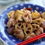 ごはんがススム秋のおかず!鶏肉と根菜の甘辛照り焼き