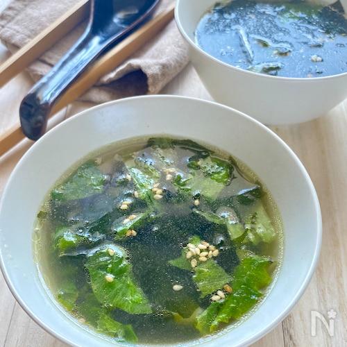 【焼肉屋さんの味】レタスとわかめの中華スープ