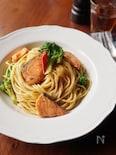 めんつゆで簡単!鮭とブロッコリーの和風パスタ