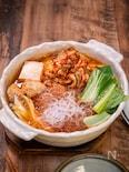 鶏団子と春雨のキムチ鍋