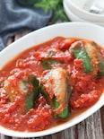 子供ウケも抜群♡丸ごとピーマンの肉詰めトマトソース煮