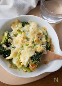 『ブロッコリーと卵のチーズパン粉焼き【簡単!トースター使用】』