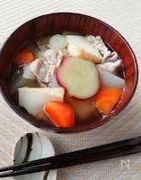 甘くて優しい風味☆さつまいもと厚揚げの豚汁