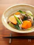 塩昆布と具だくさん冬野菜のスープ