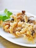 大豆とマイタケの天ぷら