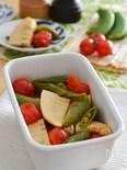 筍とミニトマトの和風焼きマリネ。春の作り置きレシピ!
