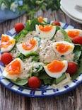 さっぱり美味しい♡サラダほうれん草と卵のツナレモンマヨサラダ