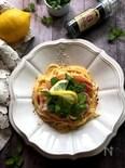 レモンとミントでさわやかカルボナーラ風スパゲッティ