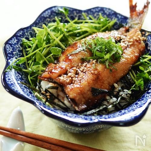 鰯(鯵)のかば焼き丼
