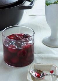 『アメリカンチェリーの赤ワイン煮』