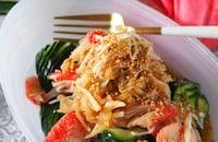 【まるでクラゲ】ポリポリ切り干し大根ときゅうりカニかま中華風