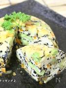 レンチンで作る♪さつま芋と彩り野菜の豆腐茶碗蒸し