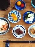 豆皿ごはん、かぼちゃの煮物