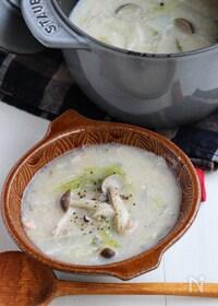 『とろ~りあったまる♪鮭の里芋とろみスープ』