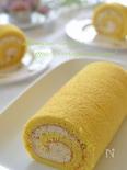 巻きやすい♬米粉のふんわりロールケーキ