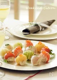 『カラフル手まり寿司』