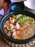 キャベツと春雨のピリ辛味噌鶏鍋