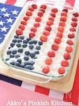 アメリカ独立記念日のファミリーケーキ 国旗がモチーフのケーキ
