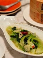 青梗菜の塩ニンニク炒め